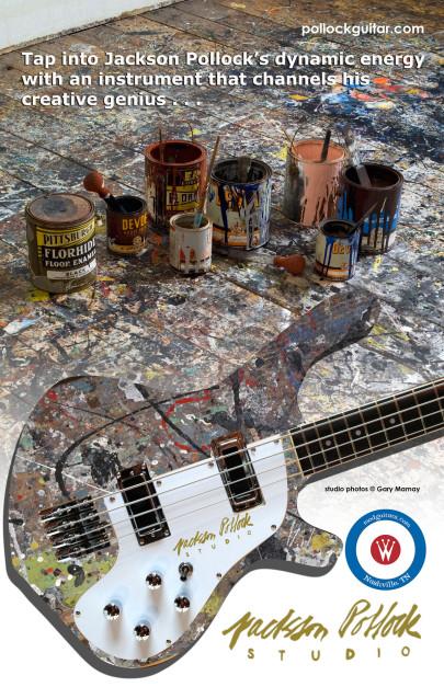 Pollock Waterstone GuitarsJackson Pollock Studio Guitar And Studio Bass Art Amp Architecture