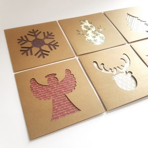 Aardwolf Design Laser Cut Christmas Card