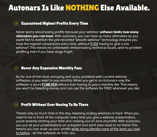 Autonars Webinar Software by Brett Rutecky Profits