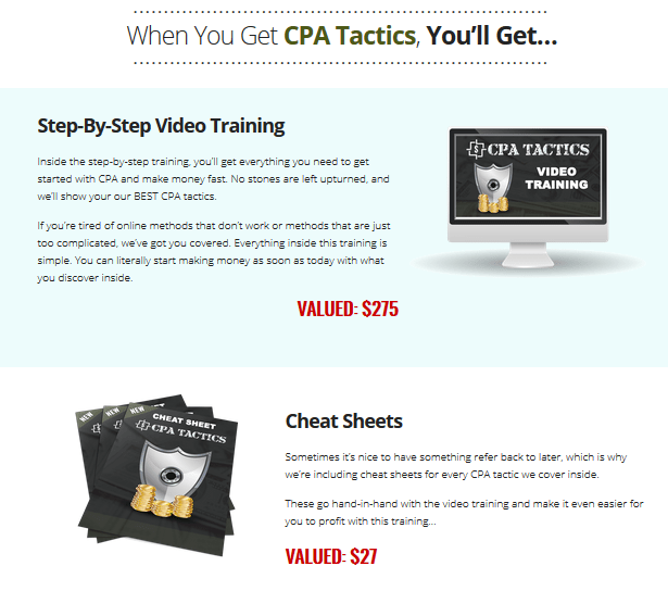 CPA Tactics Training By Nextlevelpreneur Features