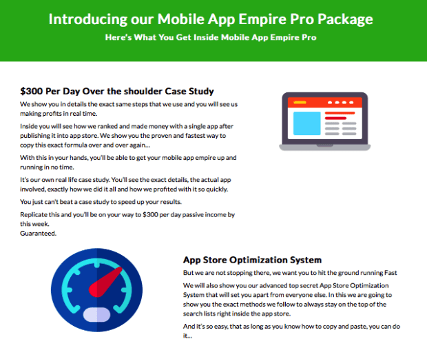 Mobile App Empire Pro by Gary Alach Discount