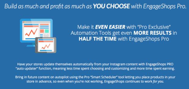 Engage Shops Pro Edition Upgrade OTO Benefits