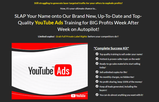 Youtube Ads 2.0 Biz In a Box Plr By Amit Pareek Download