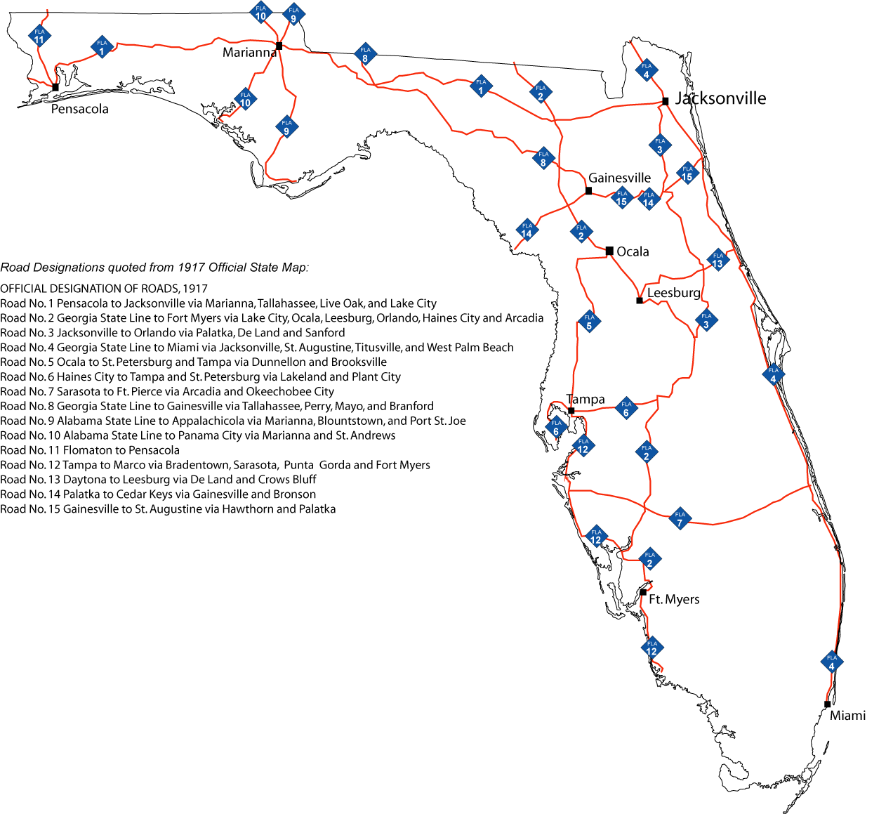 Florida Primary State Road System