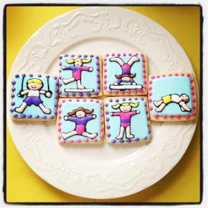 Gymnastics Cookies (see Sugarbelle for the originals!)