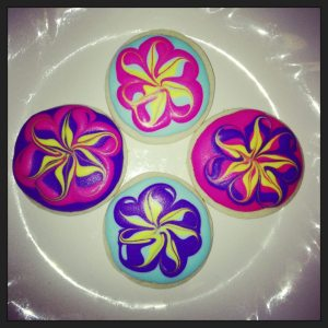 Mini Swirled Flower Cookies