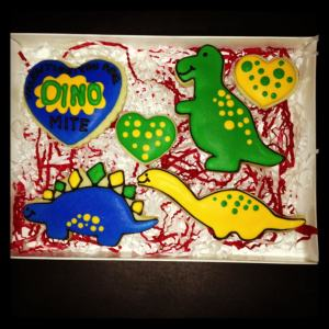 Dinosaur Cookies Gift Box