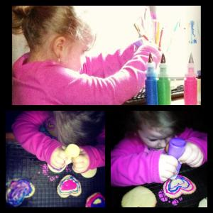 Averie Working on Cookies