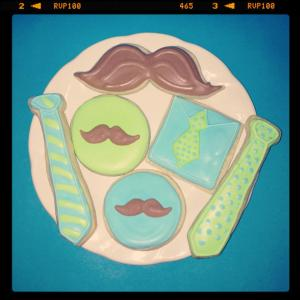 Mustaches and Ties Cookies