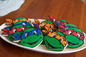 Ninja Turtle Birthday Cookies Cedar Rapids IA