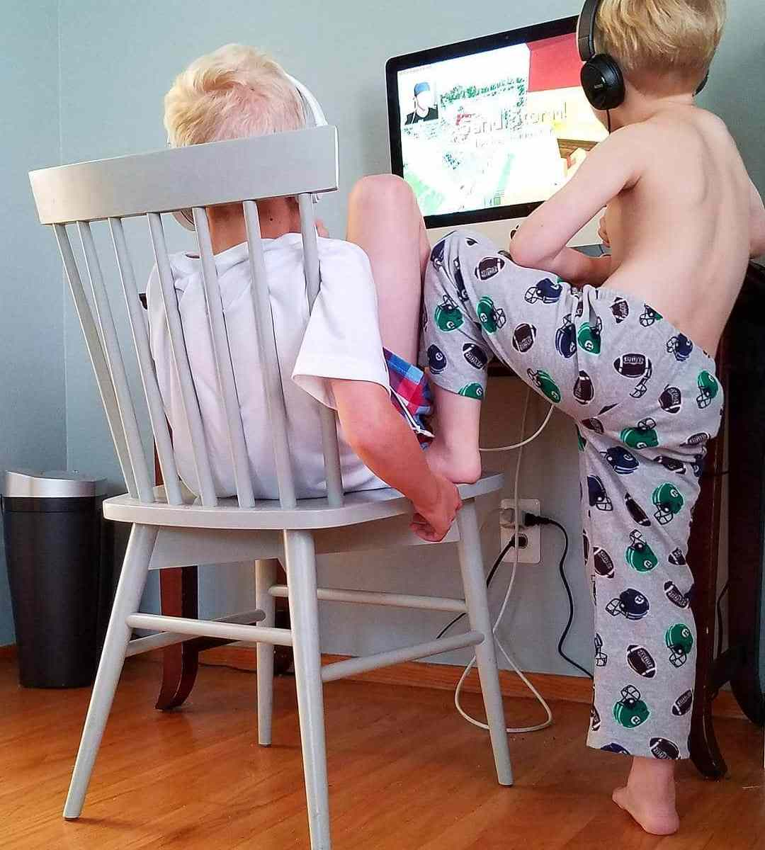 Boys at the computer