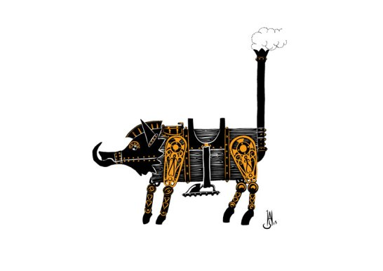 steam-boar-silhouette
