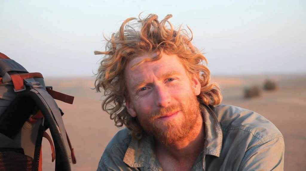 Alastair on one of his desert expeditions