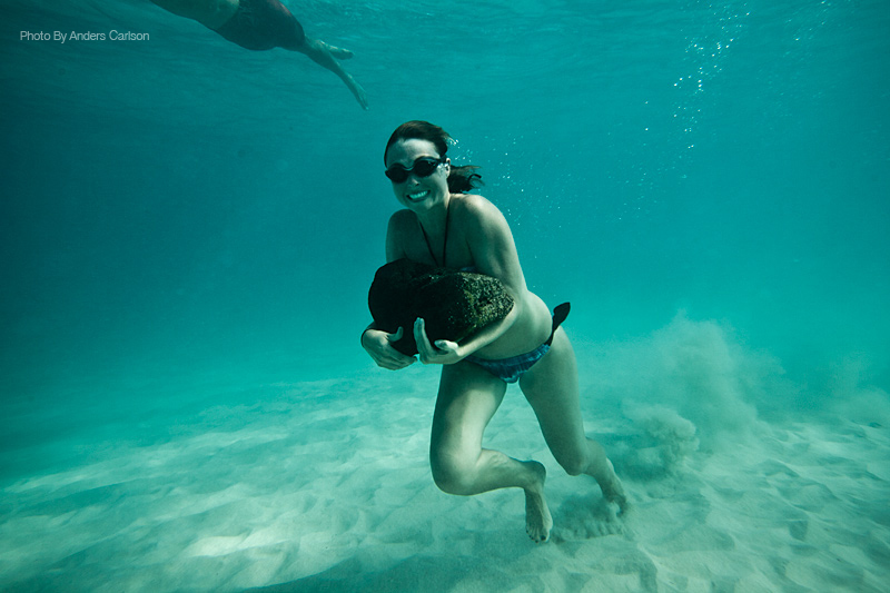 Happy is contagious underwater in Hawaii