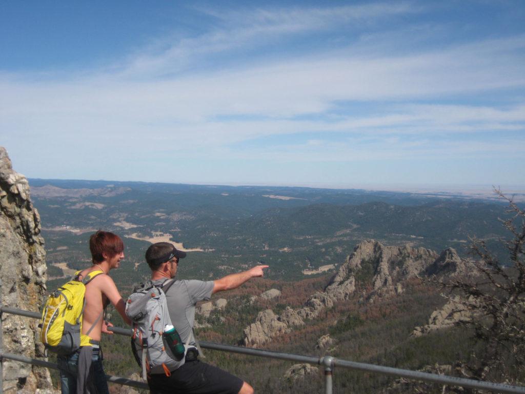 Harney Peak-looking to the black hills