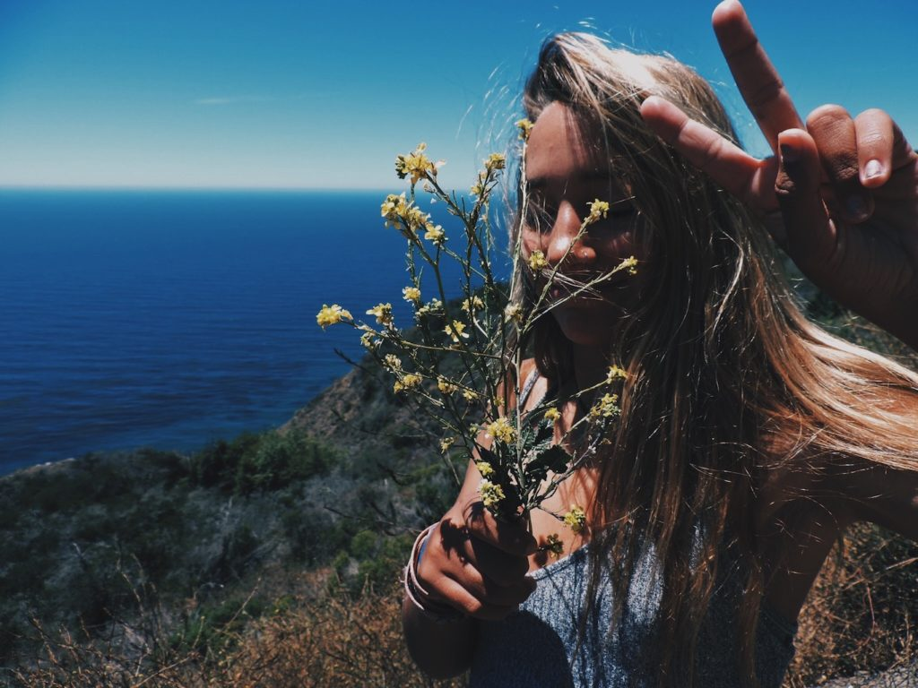 Flowers, friends, ocean, air, joy and play
