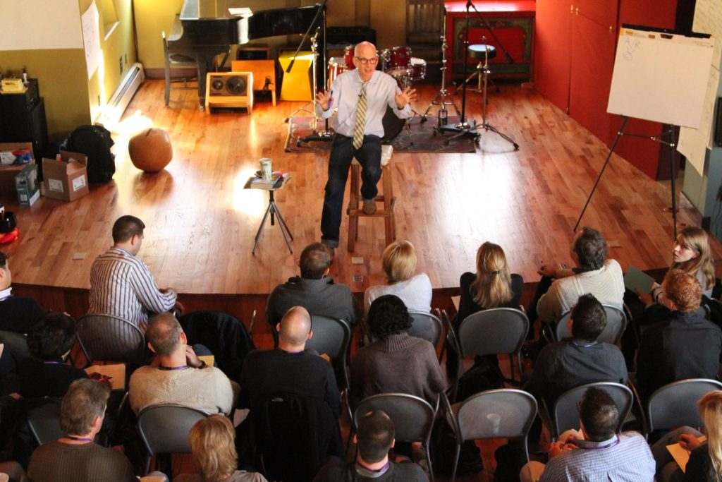 Seth Godin teaching at Medicine Ball three day sessions in NY