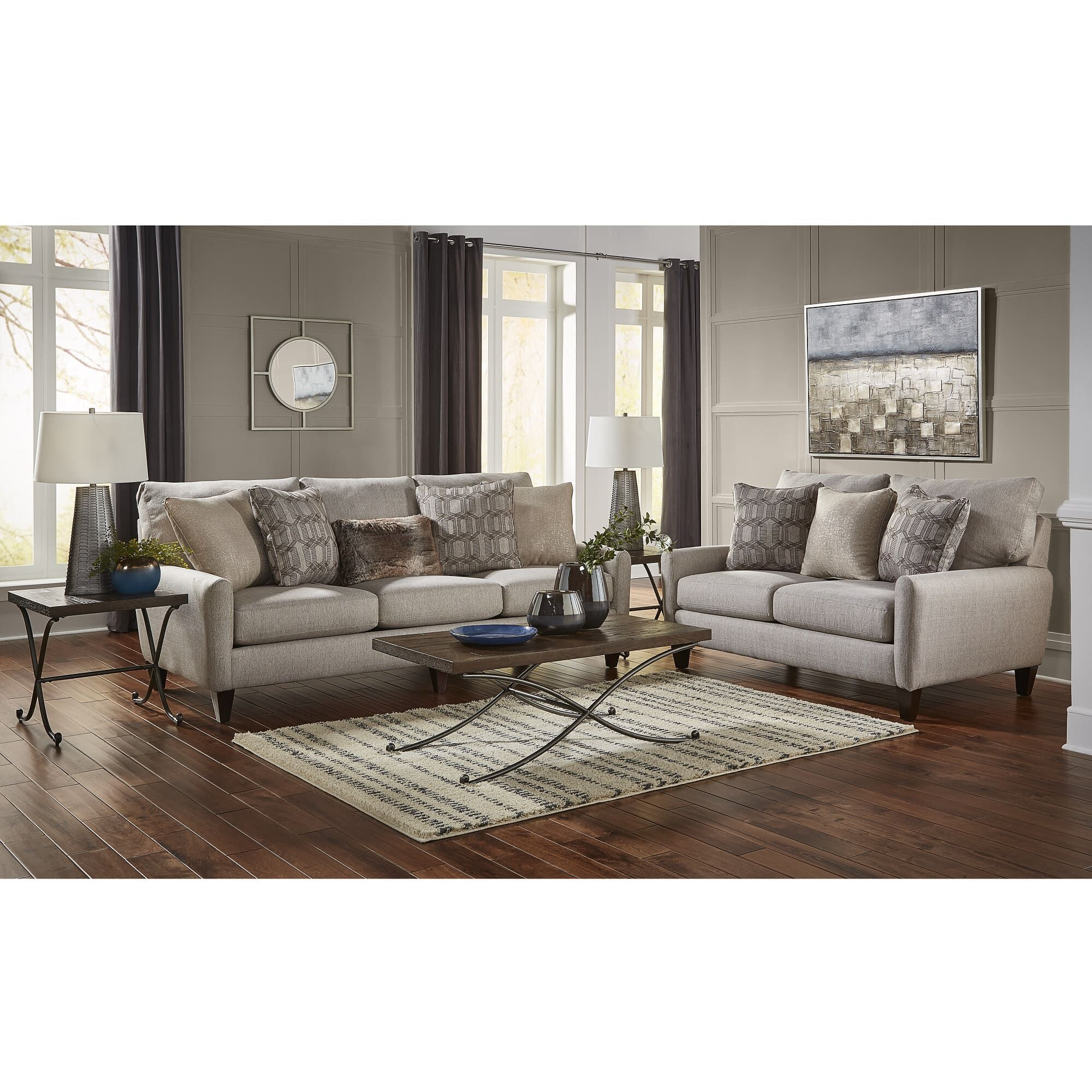 Rent to Own Living Room Furniture   Aaron s 7 Piece Ackland Living Room Collection