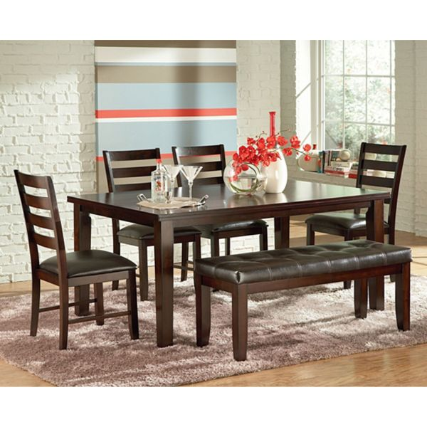 Rent to Own Dining Room Tables   Sets   Aaron s 6 Piece San Paulo Dining Room Collection