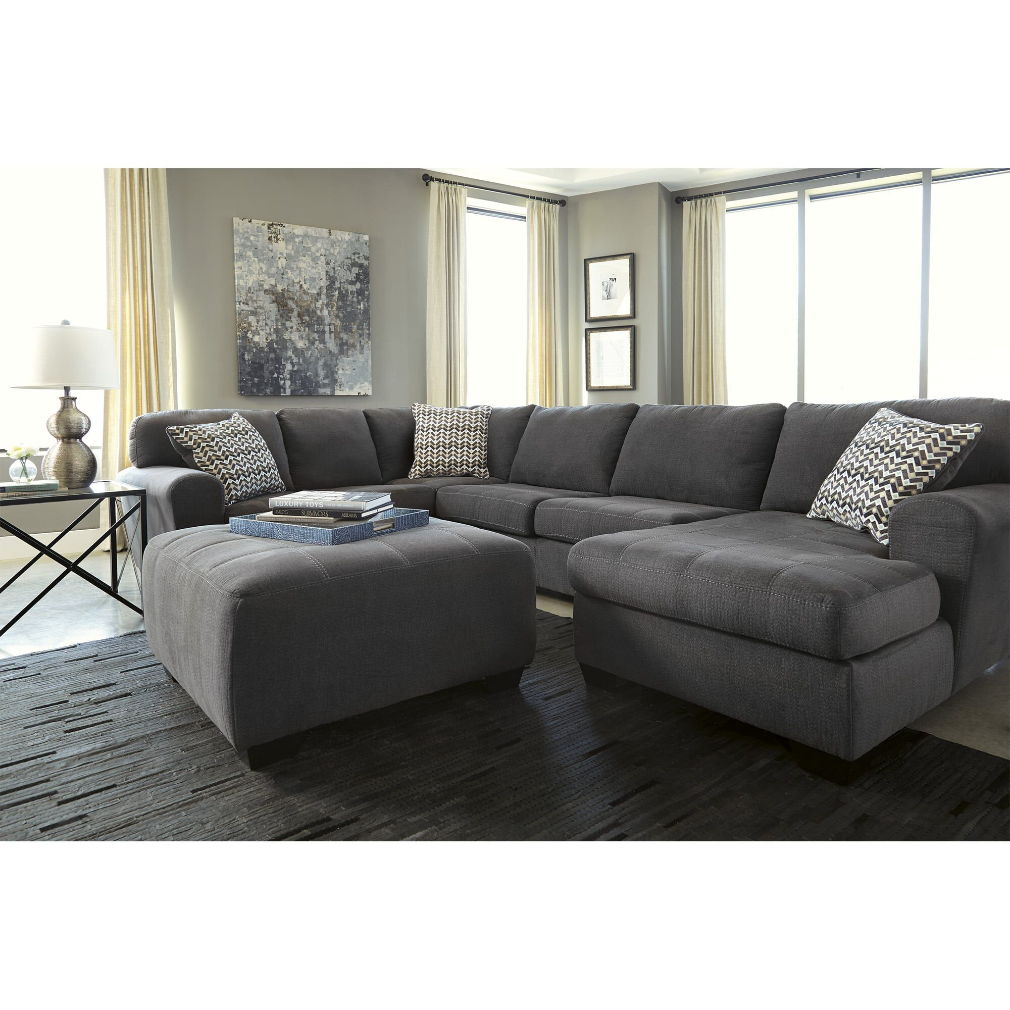 Rent To Own Ashley 4 Piece Sorenton Sectional Living Room