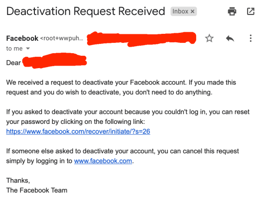 How Facebook Fakes its Active Users: The Fake Deactivation