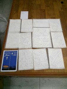 Every hand-drawn (traced) letter.