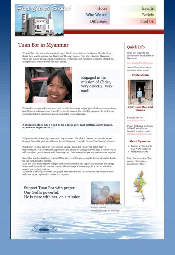 Missions page
