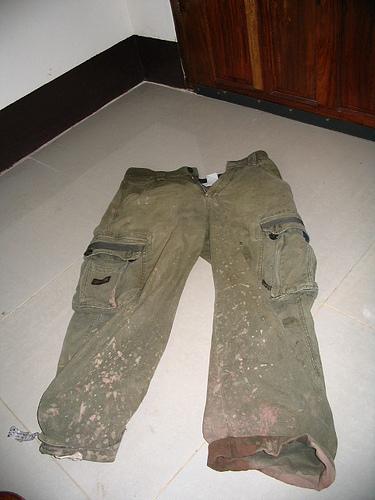 Muddy Pants after Bike Ride