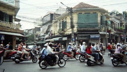 Traffic in Hanoi's Old Town