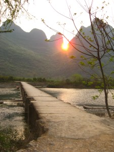 Sunset on the Yulong River