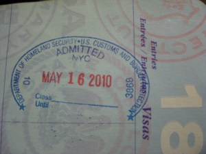 U.S. Entry Stamp