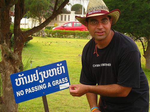 No Passing a Grass