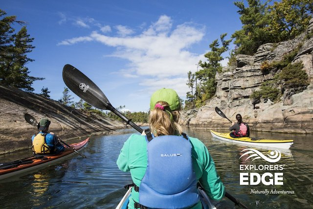 Kayaking on Parry Sound. Photo courtesy of Explorers' Edge.