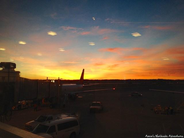 Sunrise at Washington National Airport