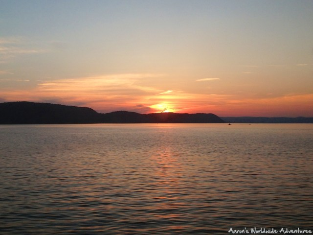 Sunset along New York's Hudson River