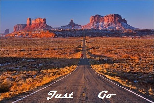 JUST GO Logo