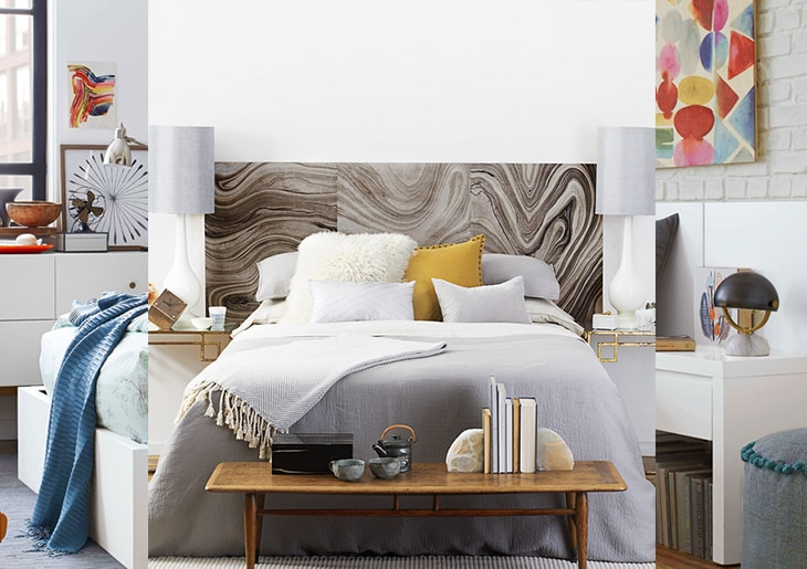 Double bed with headboard in brown and gray tones - When to use Feng Shui in your room according to an expert