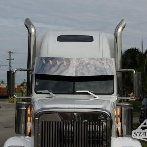Air Cleaner Light Bar SS Front 3 LED 3 Lines - Freightliner Part#: 030006.1.1.331 $295