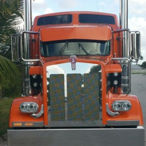 Blinker Bars Big (2 Lights) SS 2 LED 3 Lines - Kenworth W900L  Part#: 020105.1.1.23  $395 /pair