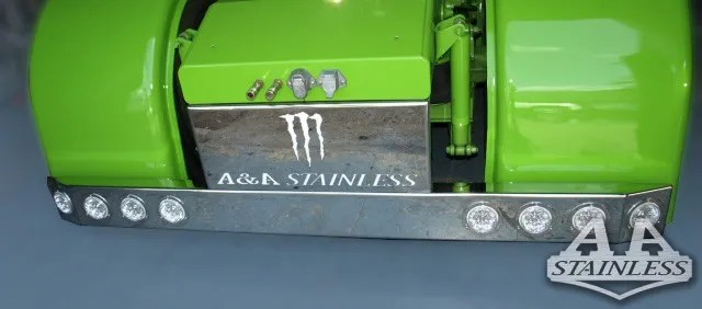 """T Bumper Universal Rear 19"""" SS 8 LED 4""""  (Lights not Included) - CUSTOM LOGO Part#: 000008.1.1.484  Call For Price!"""