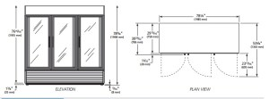 Glass door, self contained, reach in, reachin, display