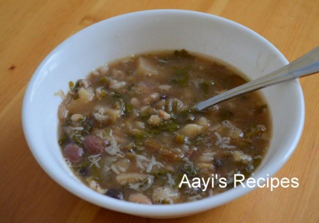 beetroot leaves-potato soup