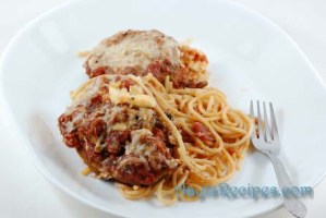 Eggplant parmesan – spaghetti bake