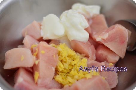 white chicken yellow rice1