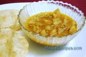 Potato bhaji (with garlic)