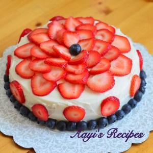 Fruit Gateau (A fruity cake)