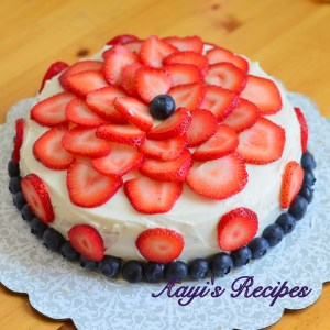 Fruit Gateau (A fruity cake)
