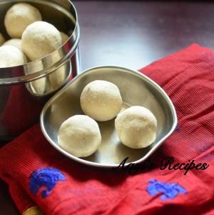 Wheat flour laddu (Ganva guLi/Chirmund)