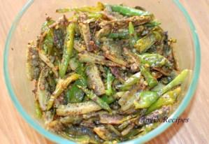 Bittergourd pickle (Karathe nonche)