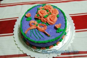 Cake decorating 1 – cake 3
